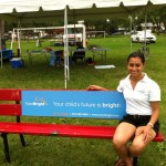 TutorBright Winnipeg Director of Education Chelsea enjoying a Little Break from Learning at the Grant Park Fields